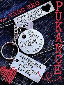 Kľúčenky - Tatinko ľúbime Ťa viac ako PUKANCE - 9347285_