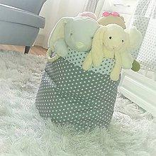 Detské doplnky - Box na hračky s ozdobnými uškami - 9344787_