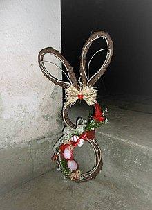 Dekorácie - Závesná veľkonočná dekorácia - zajačik ušiačik - 9345292_