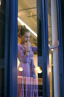 Šaty - Úpletové šaty BREA, tmavší starorůžová barva - 9346541_