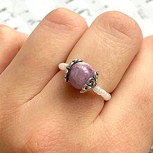 Prstene - Elastic Kunzite Antique Silver Ring / Elastický prsteň kunzit, starostriebro /0336 - 9344331_