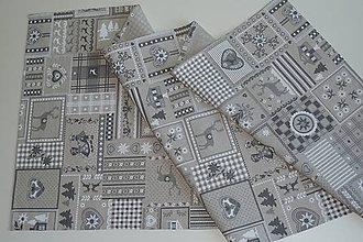 Úžitkový textil - Štóla Patchwork vidiek natur - 9344833_