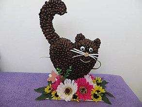 Dekorácie - Kávová mačka - 9346983_