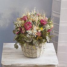 Dekorácie - Kôš plný kvetov - 9346980_