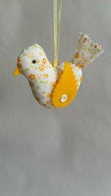 Dekorácie - Vtáčik dekorácia - 9347123_