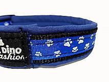 Pre zvieratká - Obojok Labky blue softshell - 9344987_