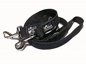Pre zvieratká - Prepinacie vodítko čierne (š:2,5cm) - 9344917_