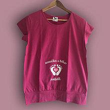 Tehotenské oblečenie - Mamičkin a tatkov pokladík - tehotenské tričko - 9345053_