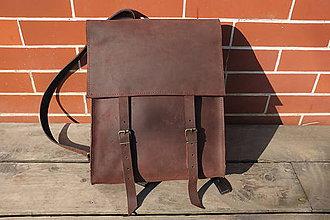 Batohy - Mestský kožený ruksak - unisex - 9346624_