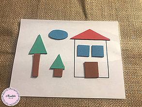 Hračky - PDF - Montessori aktivita - DOPLNENIE TVAROV DOMČEK - 9347305_