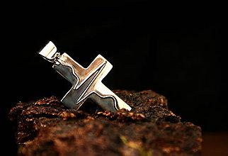 Šperky - Heartbeat - strieborný krížik - 9345181_
