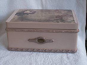 Krabičky - Bednička Vintage roses - 9344726_
