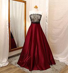 Sukne - Saténová sukňa s tylovou spodnicou - 9345420_