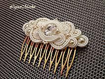 Ozdoby do vlasov - Izolda hrebienok swarovski - 9345174_