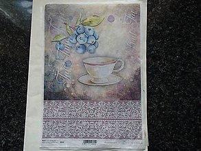 Papier - čučoriedky - 9346136_