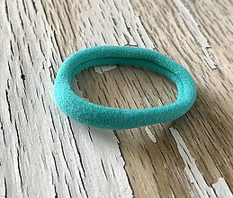 Ozdoby do vlasov - gumička k motívu-farba na výber (Tyrkysová) - 9345197_