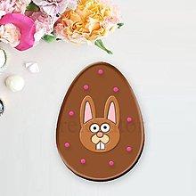 Grafika - Grafické čokoládové veľkonočné vajíčko puntíky (veľkonočný zajačik) - 9347009_