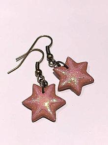 Náušnice - Náušnice hviezdičky - 9349335_