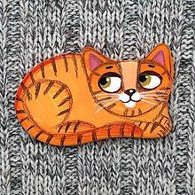 Odznaky/Brošne - Mačička ryšavka - brošňa - 9348006_