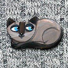 Odznaky/Brošne - mačička siamka - brošňa - 9348010_