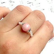 Prstene - Elastic Morganite Antique Silver Ring / Elastický prsteň morganit, starostriebro #0333 - 9349521_