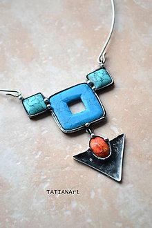 Náhrdelníky - Cínovaný náhrdelník - Jarný - 9349749_