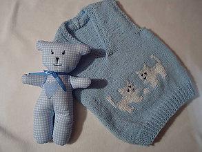 Detské oblečenie - Vestička - mačičky - 9350912_