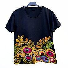 Tričká - Dámské tričko Noční květy - 9349835_