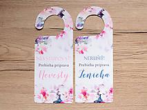 Papiernictvo - Príprava nevesty/ženícha ružovo-fialová - 9351457_