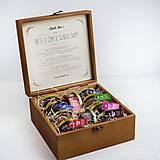 Potraviny - Exkluzívny drevený box s 10 ks vzoriek GentleJam - 9348707_