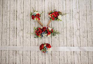 Náramky - Folk kvetinový náramok pre družičky - 9350848_