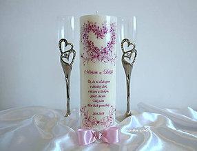 Svietidlá a sviečky - Keď zaznejú svadobné zvony, svadobná sviečka - 9349922_