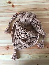 Detská šatka - bavlna (Béžová)