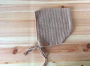 Detské čiapky - Detská čiapka - čepiec bavlna 1 - 2 r (Béžová) - 9351057_