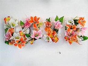 Dekorácie - jarná kvetinová krabička LOVE - 9348222_