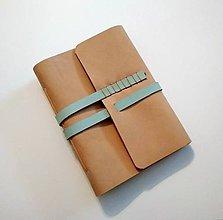 """Papiernictvo - Kožený zápisník ,,Denny"""" A6 béžový - 9348485_"""