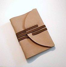 """Papiernictvo - Luxusný kožený zápisník/sketchbook ,,Damien"""" A5 nubuk - 9348706_"""