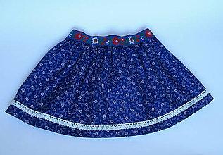Detské oblečenie - detská sukňa na mieru z