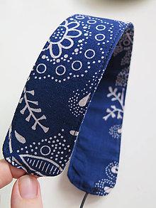 Ozdoby do vlasov - modrotlačová čelenka - 9351249_