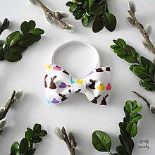 Detské doplnky - Detský motýlik Veľkonočný zajko - 9350830_