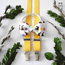 Detské doplnky - Detský motýlik a traky Veľkonočný zajko - 9350976_