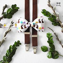 Doplnky - Pánsky motýlik a traky Veľkonočný zajko - 9351081_