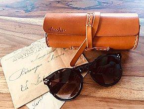 Taštičky - Kožené púzdro na okuliare - Bracho glasses cognac - 9350816_
