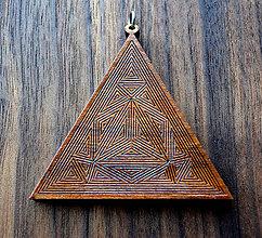 Kľúčenky - Prívesok trojuholník - 9347699_