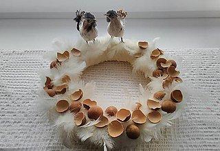 Dekorácie - venček s kohútikom a sliepočkou - 9348483_