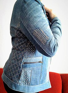 Kabáty - rifľová bundička - 9349816_