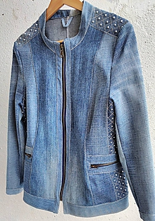 Kabáty - rifľová bundička - 9349819_