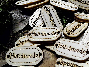 Galantéria - drevená ozdoba Hand made - 9348496_
