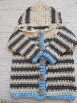 Detské oblečenie - Pruhovaný svetrík s kapucňou - 9347582_