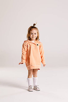 Detské oblečenie - Mikina LULU (Lulu marhuľka) - 9349140_